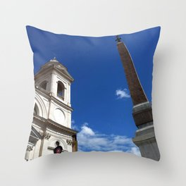 View from the Top, Spanish Steps Throw Pillow