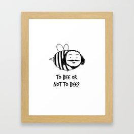 Moustache Bee Framed Art Print