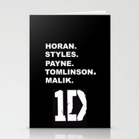 one direction Stationery Cards featuring One Direction by amy.