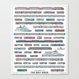 The Transit of the Bay Area Canvas Print