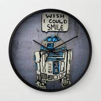 robots Wall Clocks featuring Robots by Studio La Clandestina