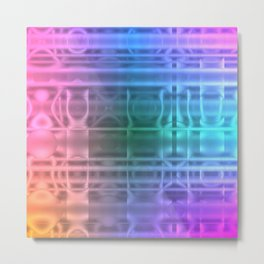 Abstract Rainbow Metal Print