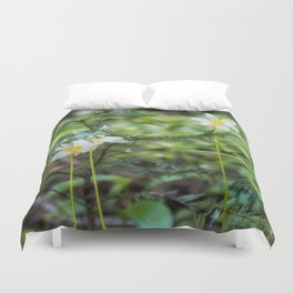 Forest Flowers, Pacific Northwest, Washington State Duvet Cover