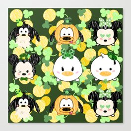 Lucky Tsum Tsum Pattern Canvas Print