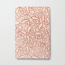 ziya cream orange Metal Print