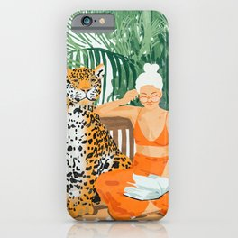 Jungle Vacay #painting #illustration iPhone Case