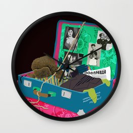 The Suitcase Wall Clock