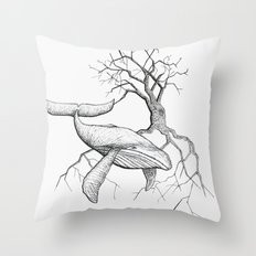 The Land Meets the Sea Throw Pillow