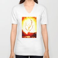 stag V-neck T-shirts featuring STAG by Chrisb Marquez