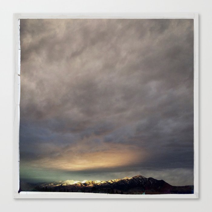 bridgers and clouds Canvas Print