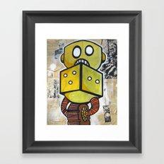 Dice Bot Framed Art Print