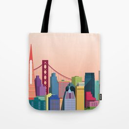 City San Francisco Tote Bag