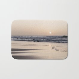 Pastel sunset at the beach | Waves of the Atlantic Ocean | Fine Art Travel Photography | Bath Mat