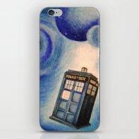 tardis iPhone & iPod Skins featuring TARDIS by Colunga-Art