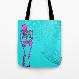 Reborn in the Swarm (Pink on Blue) Tote Bag