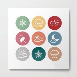 Weather symbol Metal Print