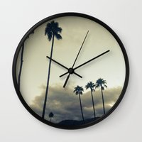 palm Wall Clocks featuring palm by cOnNymArshAuS