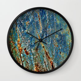 Blue Archetypal Structures Wall Clock