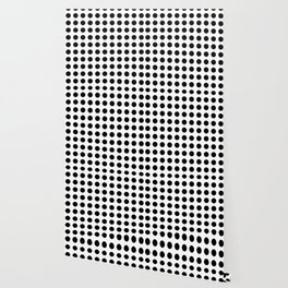 Simply Polka Dots in Midnight Black Wallpaper