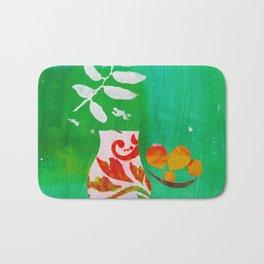 Fern & Peaches Still Life Bath Mat