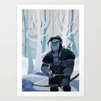 archer Art Prints featuring Archer by ötzee