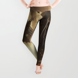 Steampunk Abstract Painting Leggings