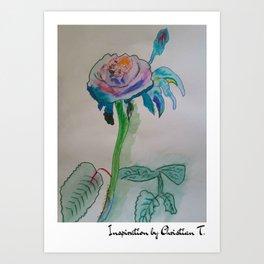 Flower rainbow inspiration modern paintings by Christian T. Art Print