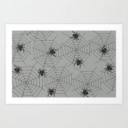 Hallween Spider web Art Print