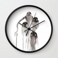 ghost Wall Clocks featuring Ghost by Lisa Hammar
