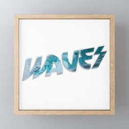 Waves Framed Mini Art Print