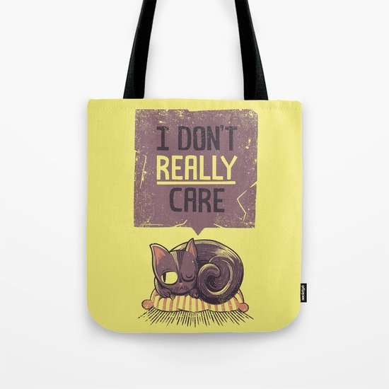I Dont Care Cat Tote Bag