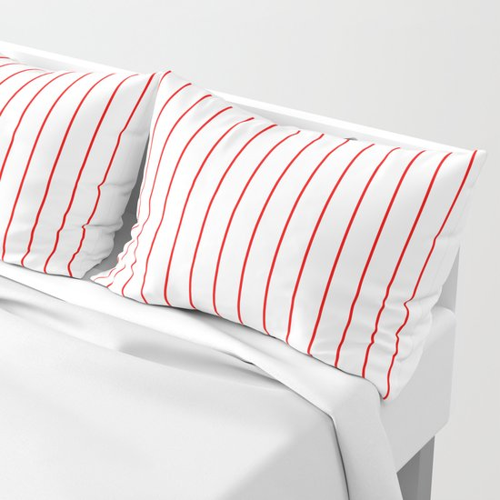 Classic Baseball Pattern Red Lines On White by podartist