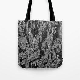 The Fantasy City. Urban Landscape Illustration. Tote Bag