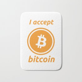I accept bitcoin Bath Mat