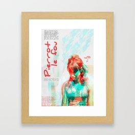 Pierrot le fou Framed Art Print