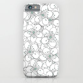 Cherry Blossom Mint iPhone Case