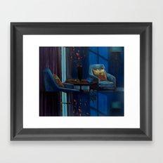 The twilight of Cathy Whitaker VACANCY zine Framed Art Print