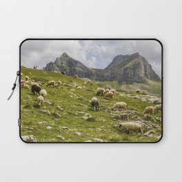 Beautiful landscape in Montenegro with fresh grass and beautiful peaks Laptop Sleeve