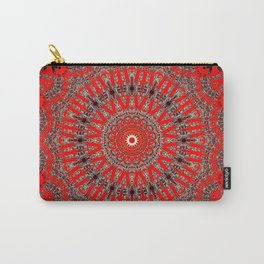 Rich Red Vintage Mandala Carry-All Pouch