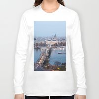 budapest Long Sleeve T-shirts featuring Budapest at night by Jovana Rikalo