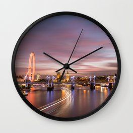 On the Thames - London Wall Clock