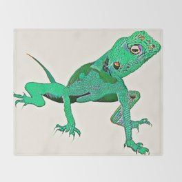 Gecko Throw Blanket