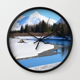 March in Portage Valley - 1 of 4 Wall Clock