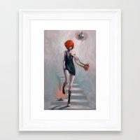 cinderella Framed Art Prints featuring Cinderella by Rudy Faber
