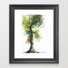 Rowan Oak Tree Framed Art Print