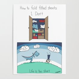 How to Fold Fitted Sheets Poster