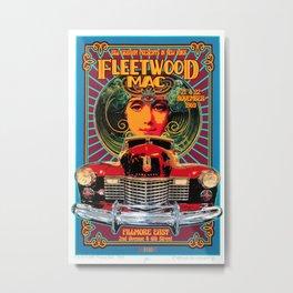 Vintage-Music Art - Fleet-wood-Mac In Concert-1969 At-Fillmore-East Metal Print