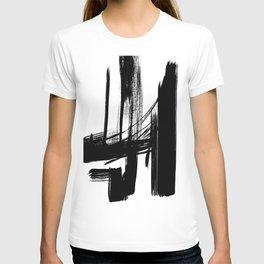 Black Abstract Brush Strokes nr 7 T-shirt