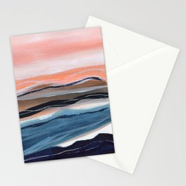 Modern watercolour landscape seaside Stationery Cards
