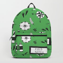 Field Notes Pattern Green Backpack